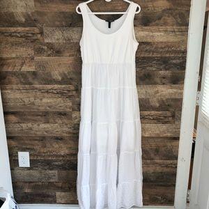 Large Soma Intimates Long White Eyelet Night Gown